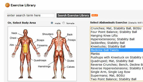 member exercise library for health club management