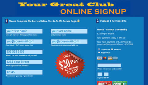 online signup online agreements software for health club management
